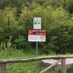 Il cartello turistico installato a Piegaio