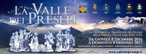 """Il banner de """"La valle dei presepi"""""""