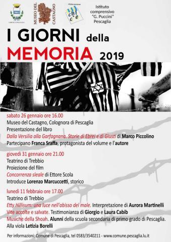 Locandina I giorni della Memoria 2018