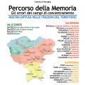 La piantina del percorso della Memoria